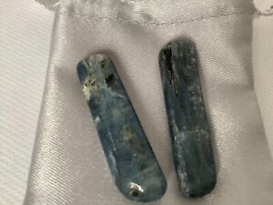 Polished Blue Kyanite Crystal x 2 in Satin Bag. Alignment, Resolve Conflict no1