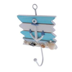Shabby-Chic-Nautical-Seaside-Wooden-Wall-mount-Hanger-Coat-Hook-Wall-Rack-2