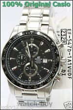 EF-547D-1A1 Black Casio Men's Watch Edifice Stainless Steel Stopwatch Analog New