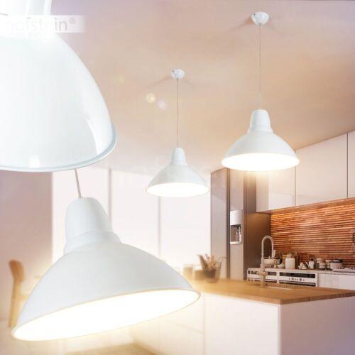 weiße Wohn Schlaf Ess Zimmer Küchen Hänge Beleuchtung Design Pendel Lampen rund