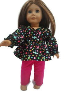 Flannel-Pajamas-18-in-Doll-Clothes-fits-American-Girl-Dolls-Candy