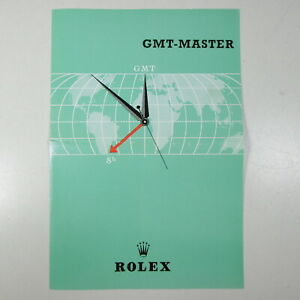 BOOKLET-ROLEX-GMT-MASTER-1675-ANNO-1961-FOGLIO-FOGLIETTO-ILLUSTRATIVO-ORIGINALE