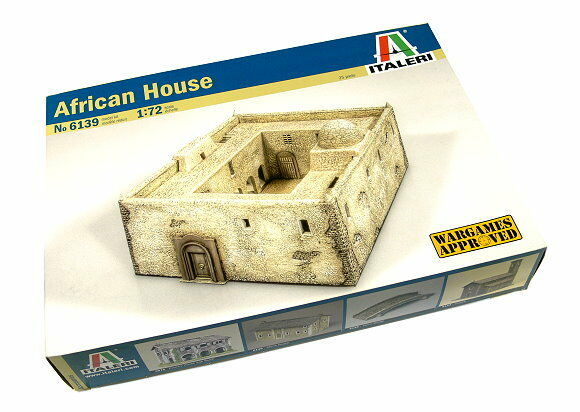 ITALERI Military Model 1 72 Accessories African House Scale Hobby 6139 T6139