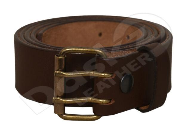 Men/'s Double Side Buckel Leather Belt UPS1659