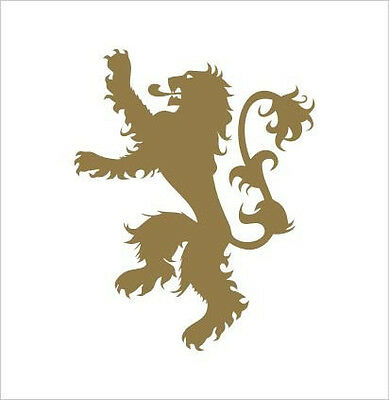 Game of Thrones House Emblem Lannister Lion Vinyl Die Cut Decal Sticker 4.75x 6