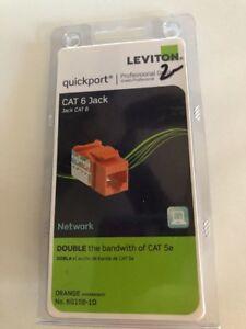 Sensational Leviton R09 5G108 0Or Cat 5E 8 Wire Quickport Adaptor Jack Orange Wiring Digital Resources Bemuashebarightsorg
