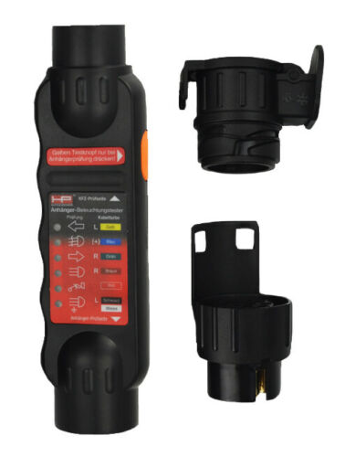 HP Anhänger Beleuchtungstester 7//13 polig Tester Wohnwagen Stecker Kfz 28529 !