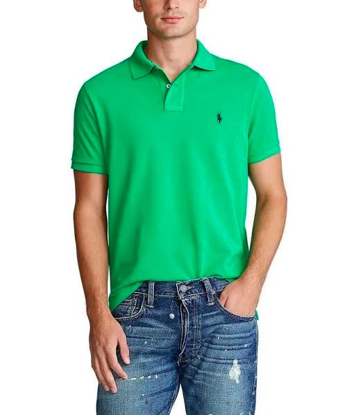 Men's Polo Ralph Lauren Kelly Green Mesh Polo Shirt XXL 2xl Classic Fit
