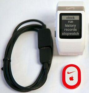 844b2a9117 Nike+ Plus Foot Sensor Pod GPS Sport Watch WHITE Silver TomTom ...