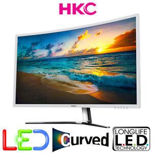 CURVED-LED-PC-TFT-31-5-034-80-14cm-HKC-NB32C-FULL-HD-VGA-DVI-HDMI-MATT-5ms-Weiss