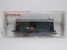 Fleischmann HO 4 Wheeled Gepackwagen Baggage Coach Ref 5055 Boxed DRG Green