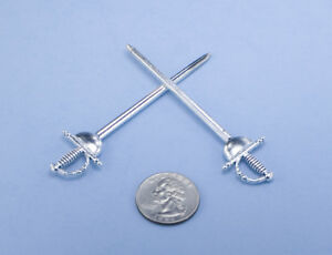 Dollhouse Miniature 1:12 Scale Fencing Sword Toy