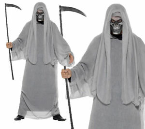 adulte-gris-a-capuche-faucheur-Robe-de-la-mort-costume-halloween-NEUF