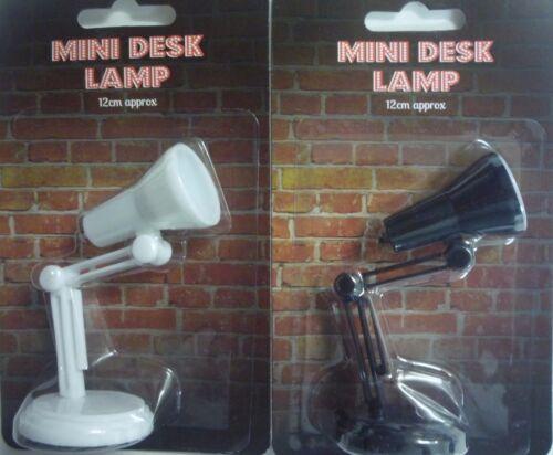 12cm Clip On Book Reading Light Black or White Mini Desk Lamp