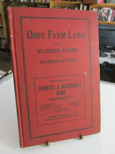1910 ARCHBOLD OH Advertising Ohio Farm Laws With Business ...