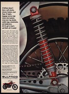 Image Is Loading 1967 BULTACO PURSANG 250 Motorcycle VINTAGE AD