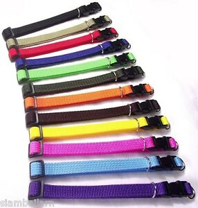 Lot Of 12 Colors Nylon ID Whelping Collar Little Puppy Pet Toy Dog Collars
