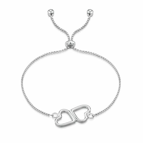 Amberta Real 925 Sterling Silver Charm Bracelet Adjustable Chain for Women Italy
