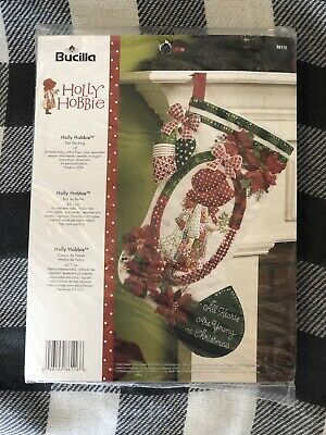 "Bucilla Vintage Holly Hobbie ~ 18"" Felt Christmas Stocking ..."