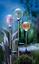 3er Solar Gartenstecker LED Wegbeleuchtung Kugeln Solarkugeln Gartendeko Fir NEU