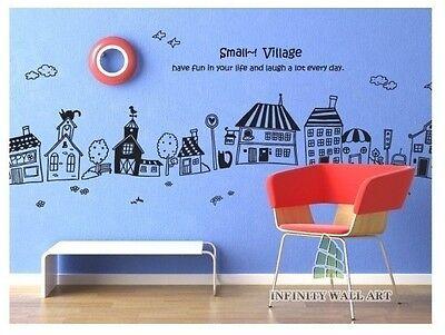 My Little Village Nursery Wall Art Sticker, Nursery Wall Decal Sticker - PD56