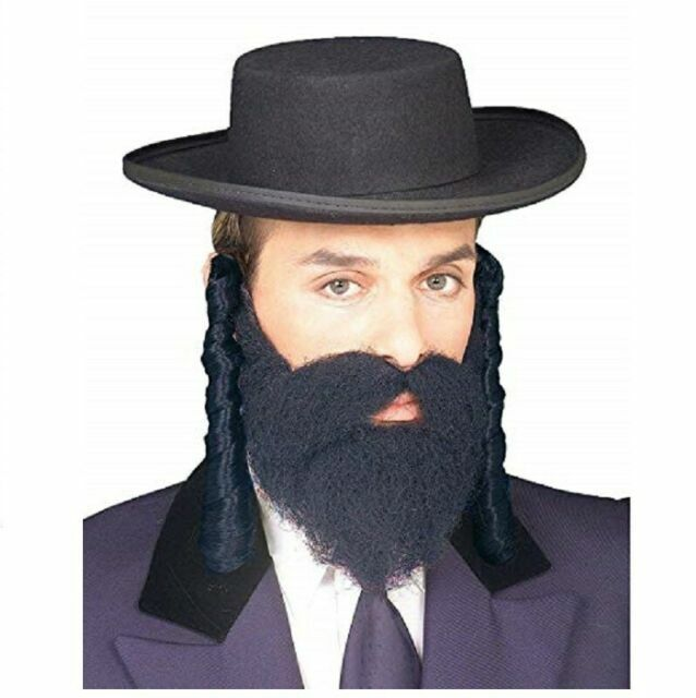 Jewish Style Black Payis Hair Curly Rabbi By Forum For Sale Online Ebay