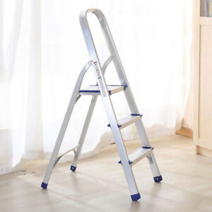 Pleasing Details About Portable 3 Step Folding Ladder Aluminum Step Stool Anti Slip With Handle 330 Lbs Pabps2019 Chair Design Images Pabps2019Com