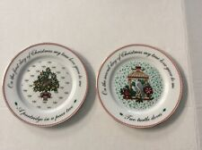 Domestications Dinnerware 12 Days of Christmas Holly and Bows 1994 2 Soup Bowls