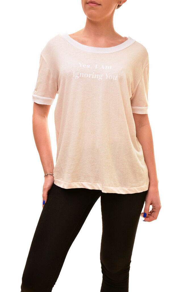 Wildfox Woherren Authentic I'm Ignoring You Shirt Nude Größe S RRP  BCF84