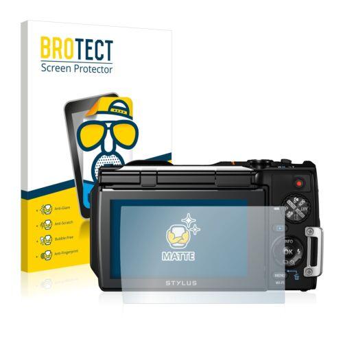 2x protector de pantalla mate Olympus stylus tough tg-860 lámina protectora