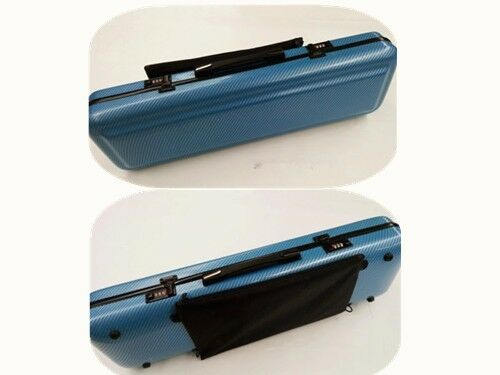 Hochwertiges Blau Composite Carbon Fiber violine Case 4 4,mit Bow Holders Straps