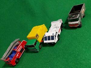 4-x-Matchbox-Lesney-transporter-lorry-Crane-truck-job-lot-vintage