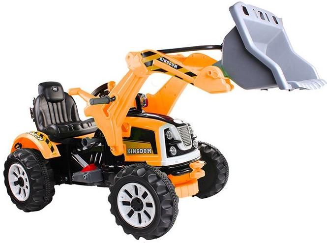 Elektro Kinderauto Ride On Kinderfahrzeug Elektroauto - Traktor, Bagger - Gelb