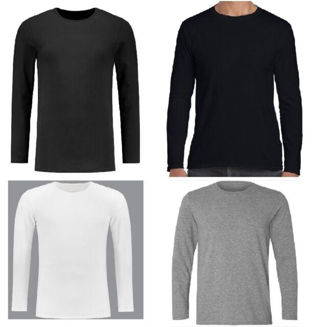 20 Gildan LONG SLEEVE T-SHIRTS Blank 10 White 10 Black BULK LOT S-XL Wholesale