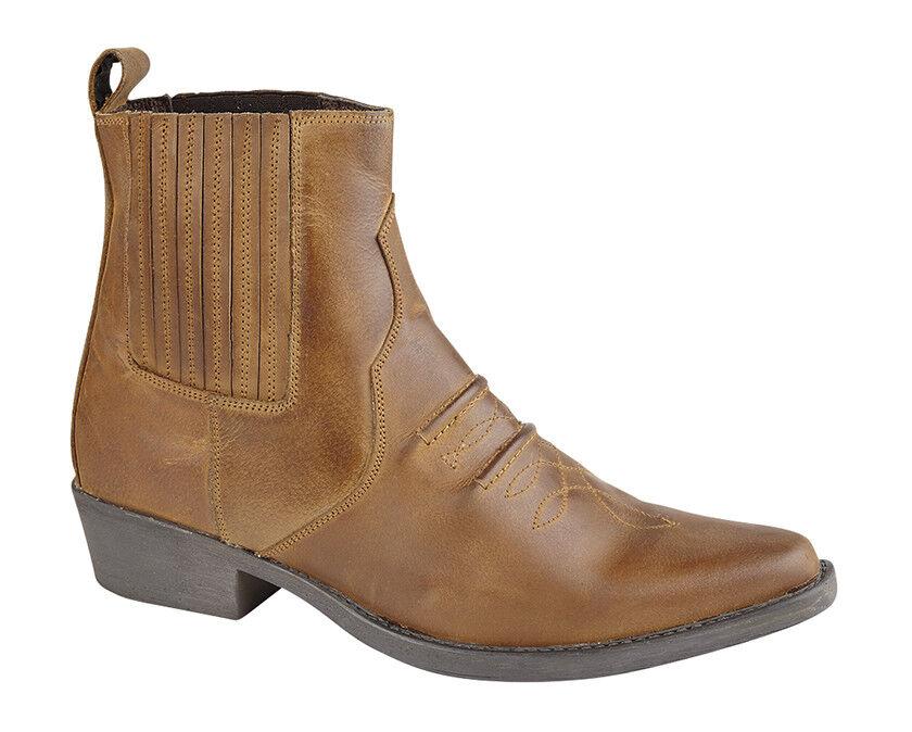 SIZE 7 8 9 10 11 MENS BROWN LEATHER GRINGOS SLIP SLIP GRINGOS ON DEALER COWBOY COUNTRY BOOTS 86e0b1