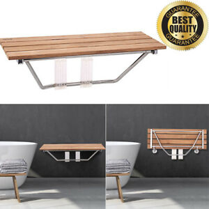 Awe Inspiring Details About Teak Wooden Folding Shower Bath Seat Bathroom Stool Wall Mounted Bench Inzonedesignstudio Interior Chair Design Inzonedesignstudiocom
