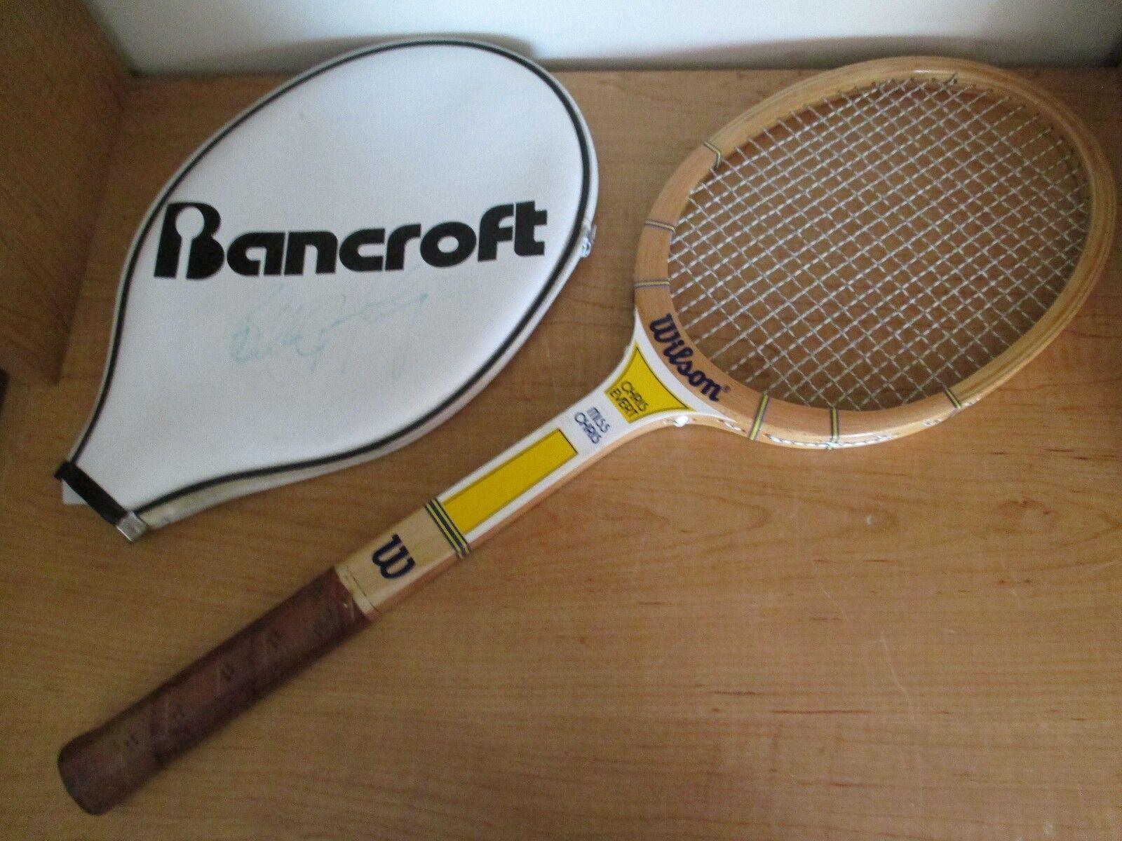 Vintage  Wilson Tenis Raqueta Miss Chris Everde-Cubierta autógrafo Billie Jean King  Mejor precio