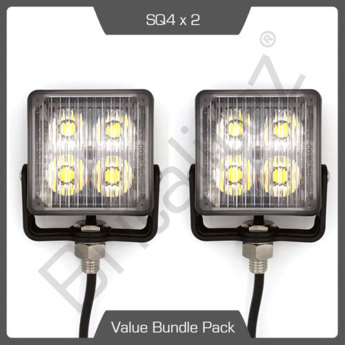 2 x Axixtech SQ4 4 LED Recovery Emergency Flashing White Strobe Light head
