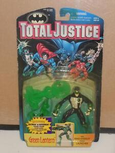 Total-Justice-Green-Lantern-W-Ring-Energy-Disk-Laucher-Toy-Figure-Kenner-1996-MC