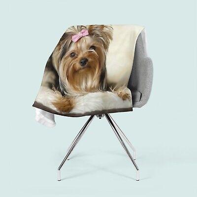 Foto-Kuscheldecke Schäferhund bedruckte Wohndecke Decke Fleecedecke nach Maß