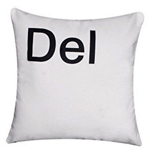 """/""""Ctrl Alt Del ESC/"""" Haute Qualité 100/% Sergé Coton blanc HOUSSES DE COUSSIN Oreiller"""