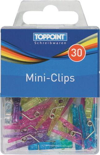 30 Mini Klammern Mini Clips