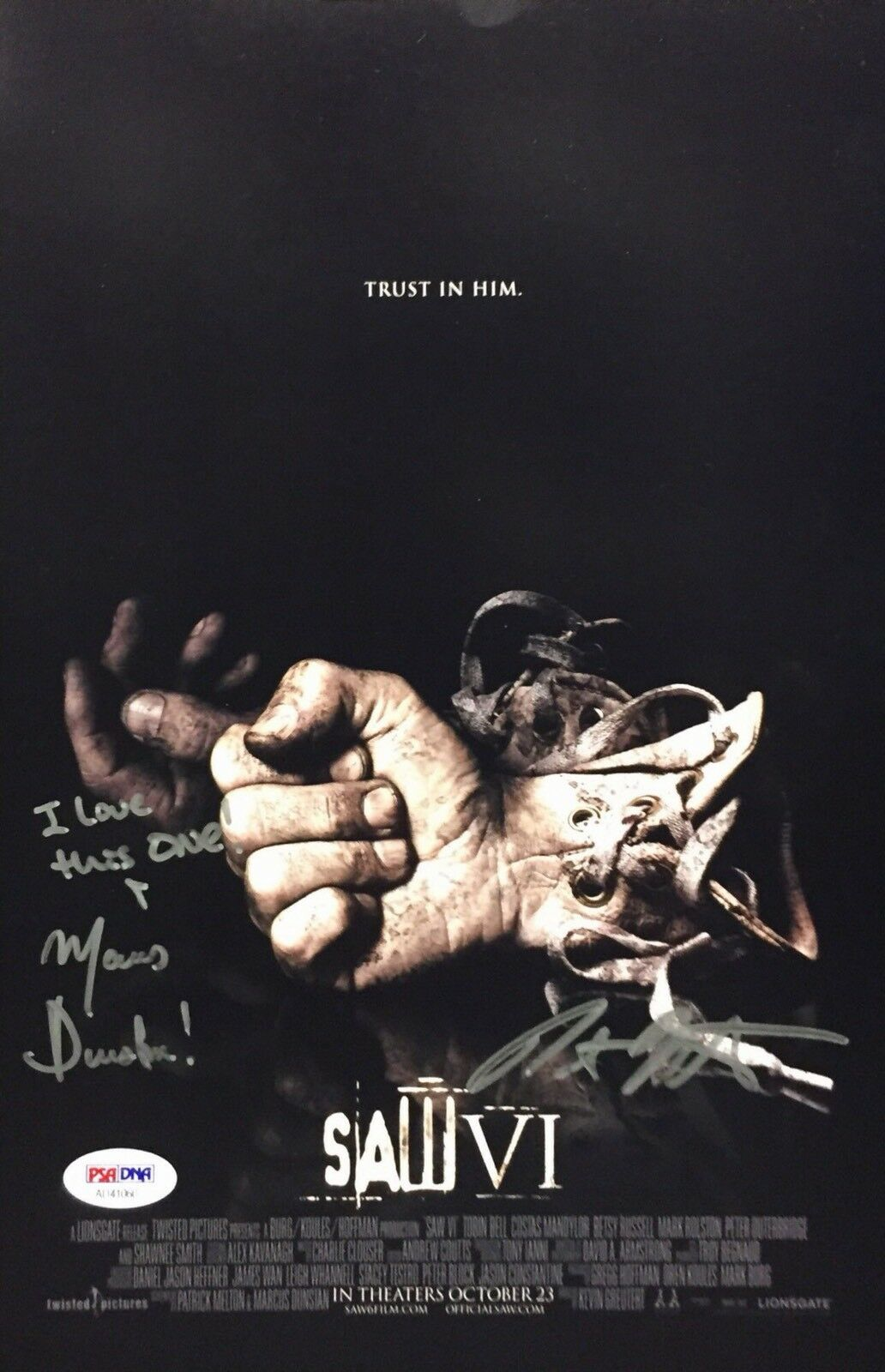 Marcus Dunstan & Patrick Melton Signed Saw VI 8x12 Photo *Writers PSA AD41060