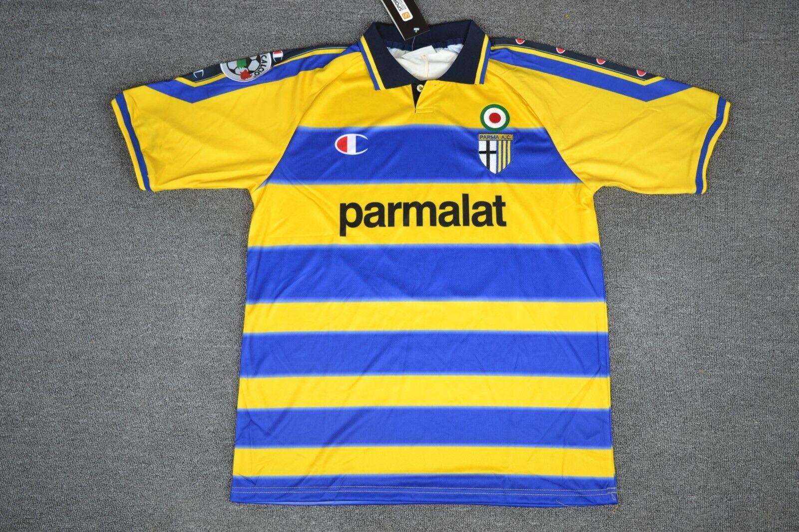 PARMA HOME RETRO SHIRT 1999-2000, CRESPO, CANNAVARO, Sizes S M L XL