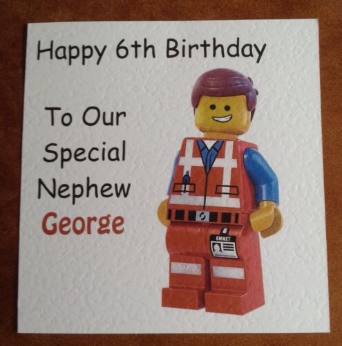 Personalised Lego Movie Birthday Card Ebay