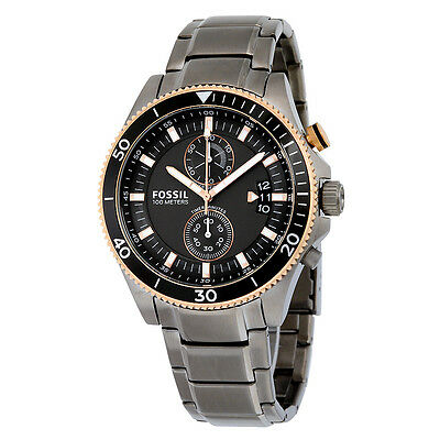 Fossil Wakefield Chronograph Vlack Dial Smoke Ion-plated Mens Watch CH2948