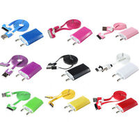 Best EU Plug Adapter Wall Charger+USB Data Sync Cable for iPod Apple iPhone 4 4S