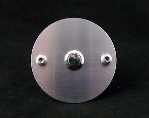 designer edelstahl klingel platte schild taster silber rund modern t rklingel ebay. Black Bedroom Furniture Sets. Home Design Ideas