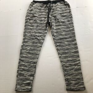 Forever-21-Black-Ivory-Textured-Tweed-Athletic-Pants-Size-Large-NWT-A1261