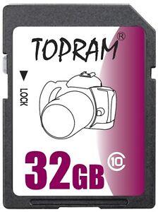TOPRAM-32GB-SD-class10-C10-32G-SDHC-2-0-secure-digital-memory-card-bulk